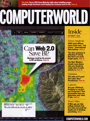SpatialKey on cover of ComputerWorld magazine