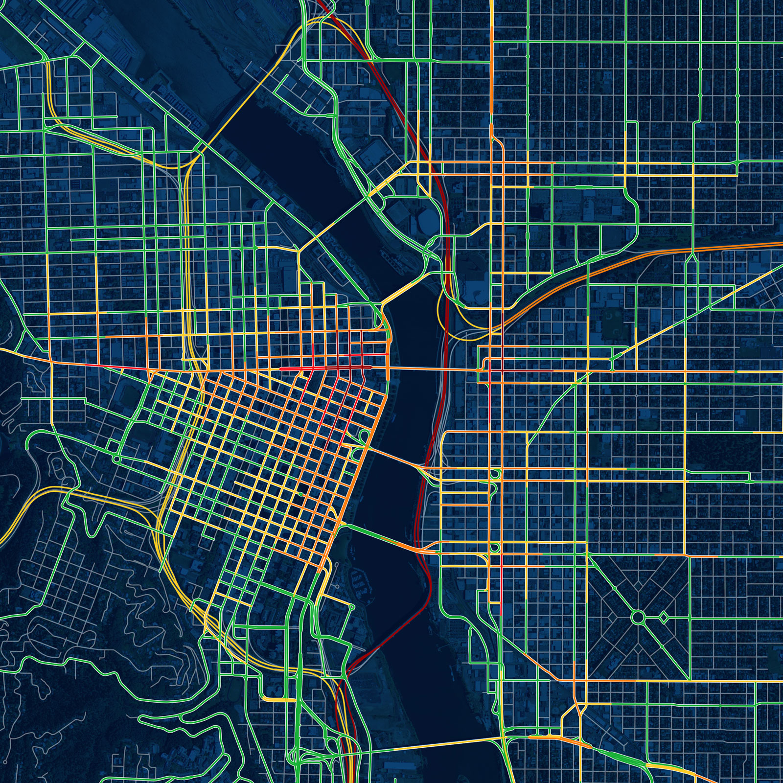 Drunk Traffic Map of Portland DUIs | Doug McCune