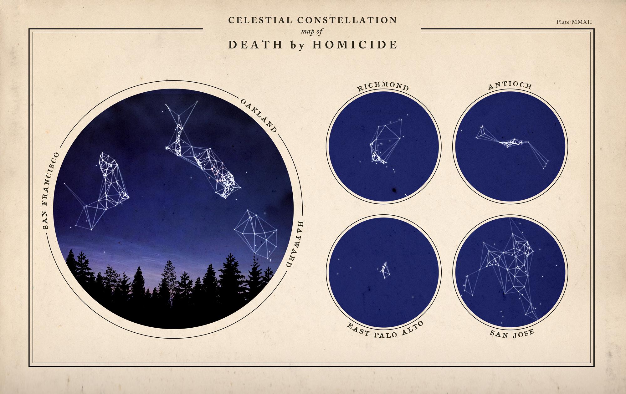 Bay Area Homicide Constellation Map | Doug McCune